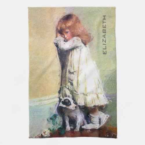 In Disgrace Vintage Oil Painting Personalized Kitchen Towel