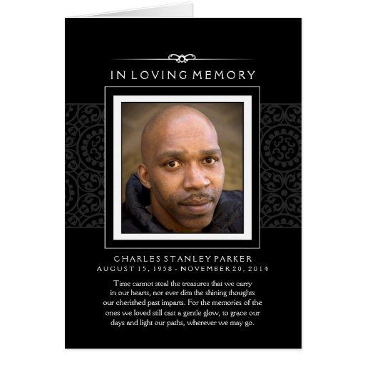 In Loving Memory Photo Black Greeting Card Zazzle