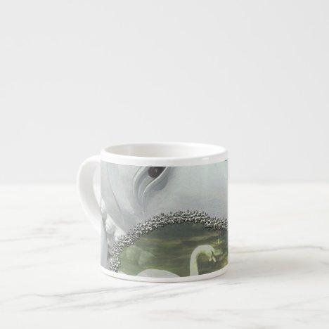 In the Garden - Quan Yin & Flowers Espresso Cup