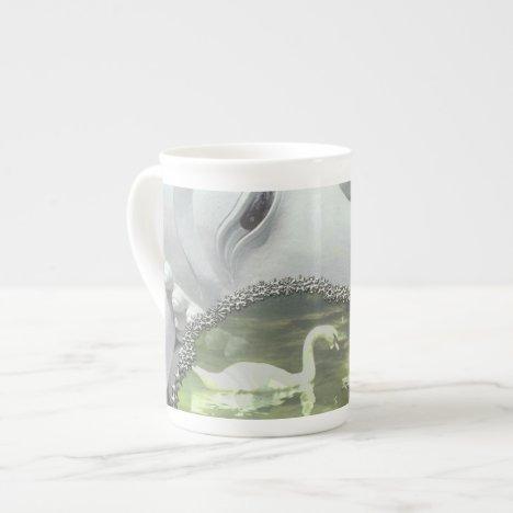 In the Garden - Quan Yin & Flowers Tea Cup