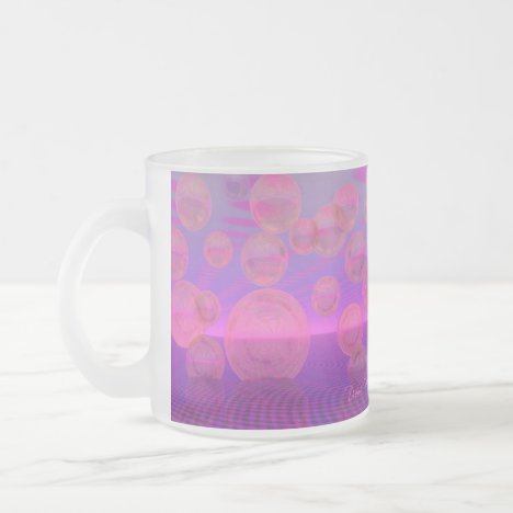 In the Zone – Rose & Amethyst Voyage Frosted Glass Coffee Mug