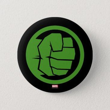 Incredible Hulk Logo Button
