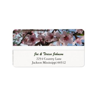 Indian Peach Blossom Address Labels