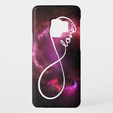 infinity love - pink nebula Case-Mate samsung galaxy s9 case