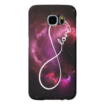 infinity love - pink nebula samsung galaxy s6 case
