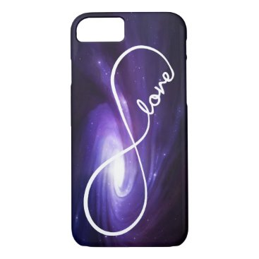 Infinity Love with Purple Nebula iPhone 8/7 Case