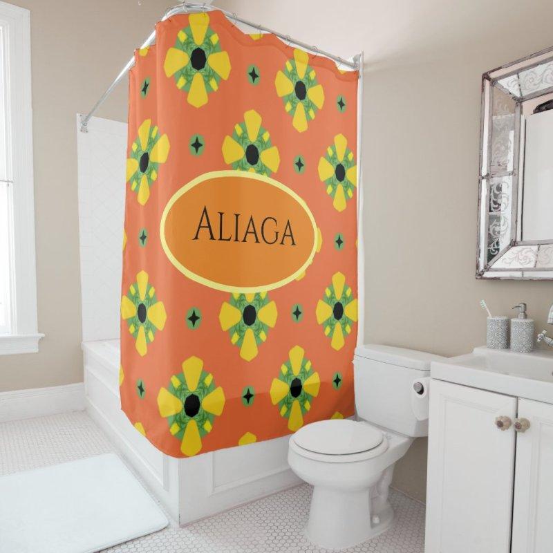 INITIALS Bright Birthday or Anniversary Gift  Shower Curtain