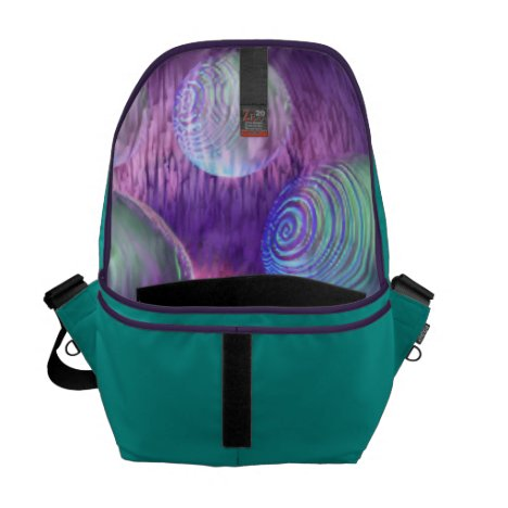 Inner Flow II - Abstract Indigo & Lavender Galaxy Courier Bag