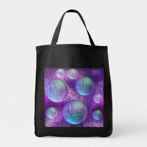 Inner Flow II - Abstract Indigo & Lavender Galaxy Tote Bag