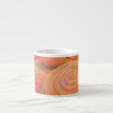 Inner Flow IV Fractal Abstract Orange Amber Galaxy Espresso Cup