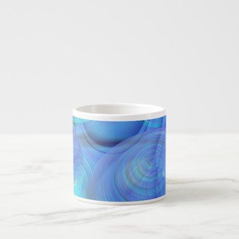 Inner Flow VI – Aqua & Azure Galaxy Espresso Cup