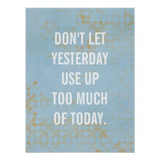 inspirational poster, typography, custom blue