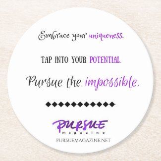 Inspirational Quote for Teen Girls - Coaster Round Paper Coaster
