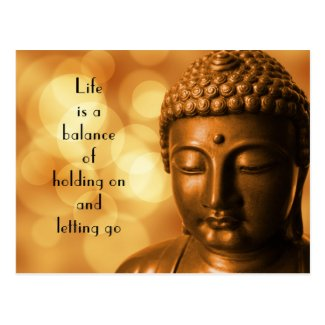Inspirational Quote with a Buddha Image