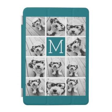Instagram Collage with Custom Monogram Blue iPad Mini Cover
