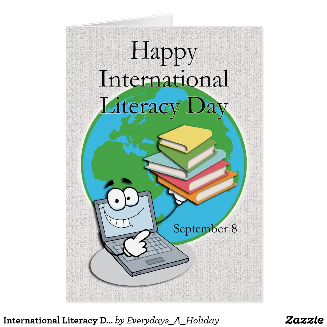 International Literacy Day September 8 Card
