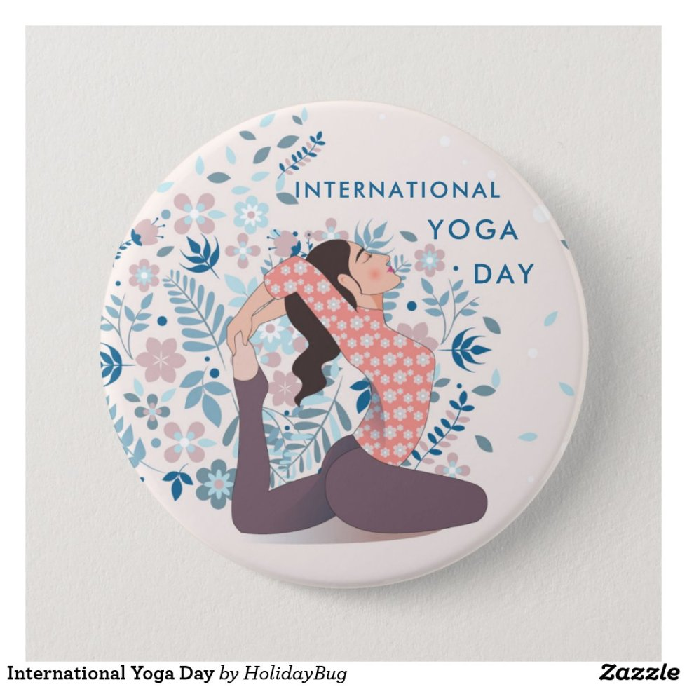 International Yoga Day Button