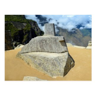 Inti Watana Stone Calendar at Machu Picchu, Peru Post Card