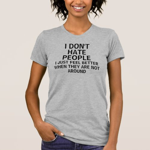 Introvert People Saying Humor T-Shirt