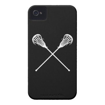 iPhone 4 Lacrosse Sticks Black iPhone 4 Case