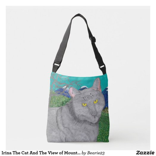 Irina The Cat And The View of Mount Baldy Bag