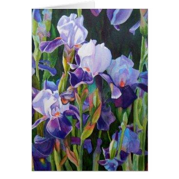 Iris Flower Garden Card