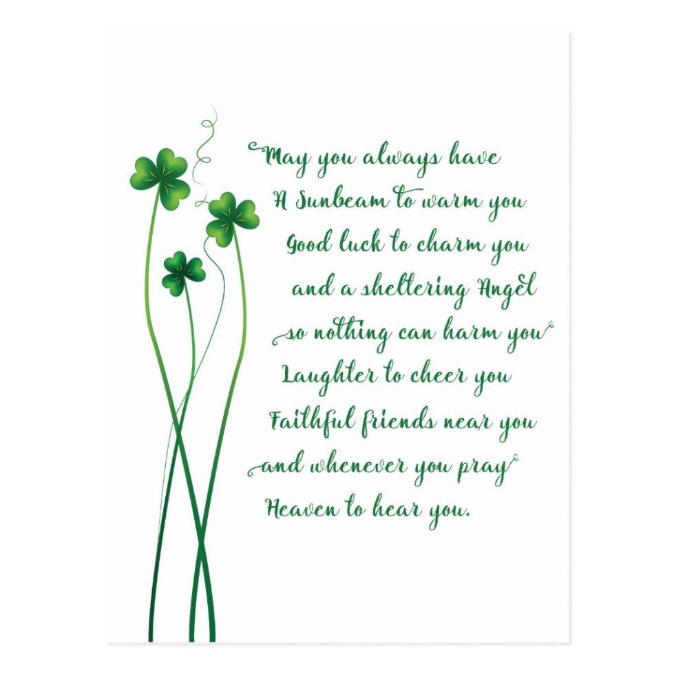 Irish Blessing Calligraphy Postcard