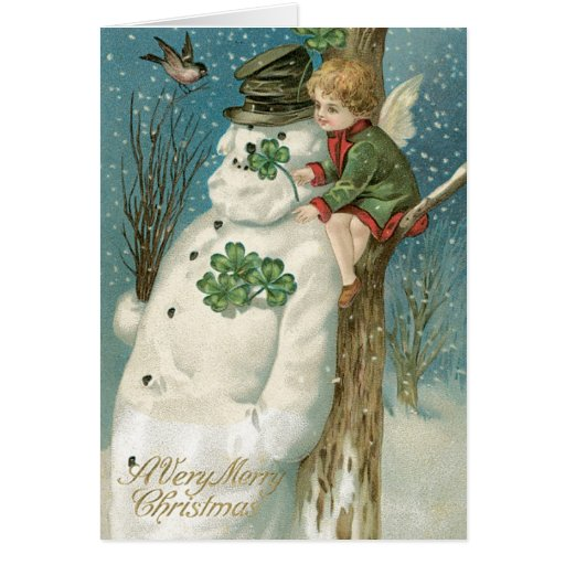 Irish Christmas Cards Vintage Christmas Card Zazzle