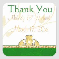 Irish Claddagh Wedding Thank You Stickers