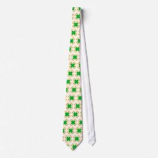 Irish clovers - Tie tie