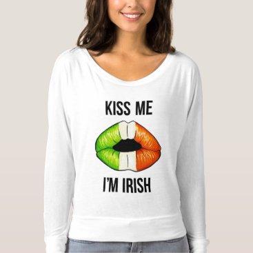 Irish Lips - Black T-shirt