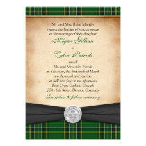 Irish Tartan Celtic Claddagh Lucky in Love Wedding Cards