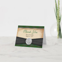 Irish Tartan Celtic Claddagh Wedding Thank You Greeting Cards