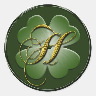Irish Wedding Monogram H Envelope Seal