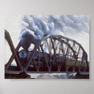 Iron Horses & Iron Bridges print
