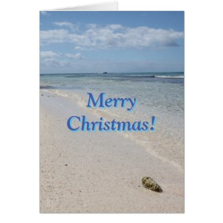 Isla Saona Caribbean Beach Merry Christmas! Greeting Card
