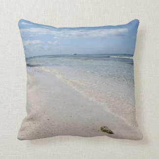 Isla Saona - Caribbean Beach Throw Pillow