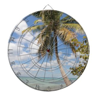 Isla Saona - Palm Tree at the Beach Dartboard With Darts