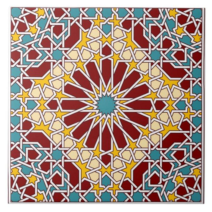 islamic geometric pattern tile zazzle com