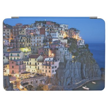 Italy, Manarola. Dusk falls on a hillside town iPad Air Cover