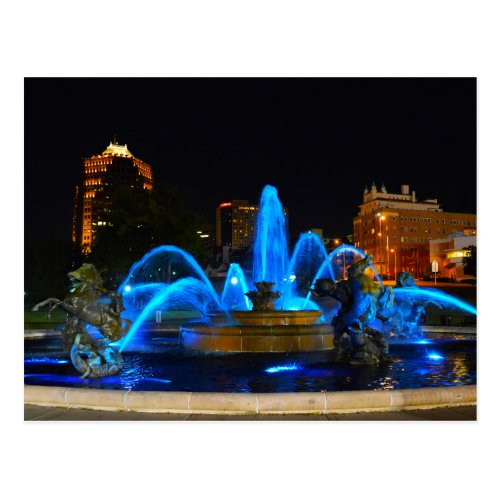 J.C. Nichols Fountain in Blue, Kansas City