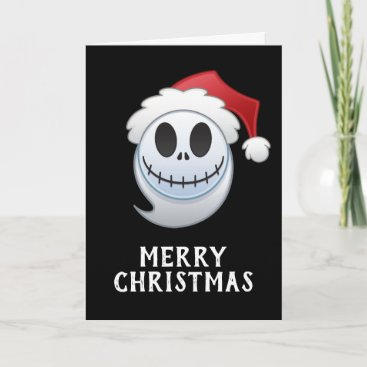 Jack Skellington Santa Emoji Holiday Card