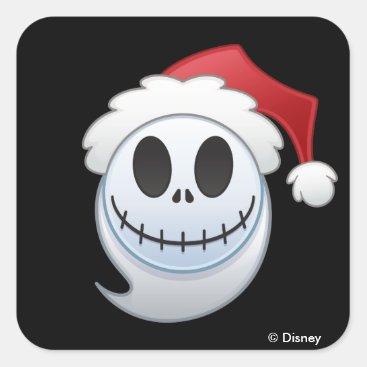 Jack Skellington Santa Emoji Square Sticker