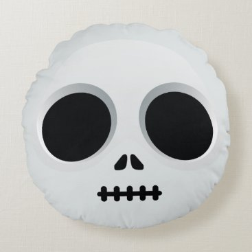 jack skullington emoji round pillow