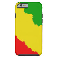 Jagged Rasta Stripes Tough iPhone 6 Case