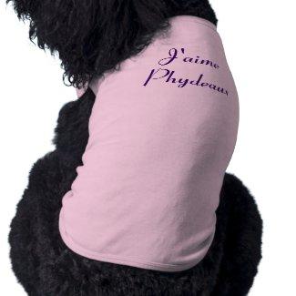 J'aime Phydeaux - I Love Fido petshirt