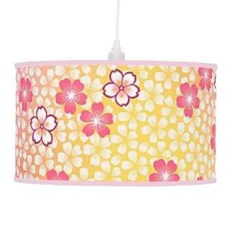 Japanese Cherry Blossoms Table Lamp
