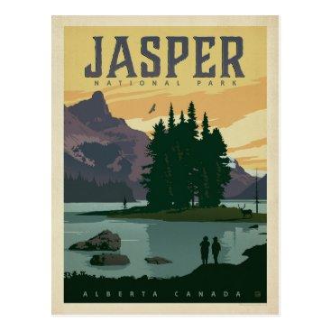 Jasper National Park, Alberta Canada Postcard