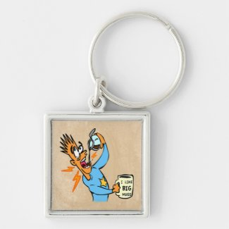 Java Junkie - I like Big Mugs! (Customize It) Key Chains
