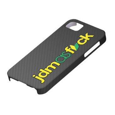 JDMasFCK with Faux Carbon Fiber iPhone SE/5/5s Case